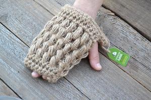 Натуральная мочалка из льна, рукавичка